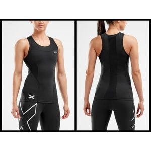 2XU Compression Tank Top ~ Black (Size: M)